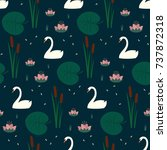 trendy seamless pattern with... | Shutterstock .eps vector #737872318