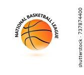 basketball championship logo... | Shutterstock .eps vector #737874400
