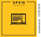 laptop  icon vector. simple web ... | Shutterstock .eps vector #737875678