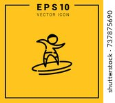 surfing logotype simple icons... | Shutterstock .eps vector #737875690