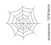contour pattern of a web.... | Shutterstock .eps vector #737876614