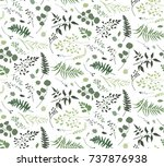 seamless pattern of eucalyptus... | Shutterstock .eps vector #737876938