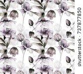 floral seamless pattern ... | Shutterstock . vector #737877850