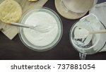step by step. making mousse... | Shutterstock . vector #737881054