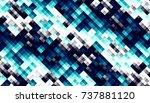 abstract digital fractal... | Shutterstock . vector #737881120
