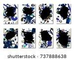 doodle stars and brush strokes. ... | Shutterstock .eps vector #737888638