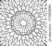 adult coloring page. black and...   Shutterstock .eps vector #737890090