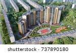modern residential complex  3d... | Shutterstock . vector #737890180