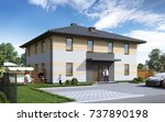 3d illustration house for a... | Shutterstock . vector #737890198