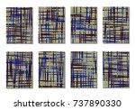 dark minimal covers. striped...   Shutterstock .eps vector #737890330