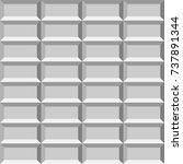 3d light tiled wall. seamless...   Shutterstock .eps vector #737891344