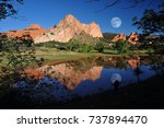 Small photo of A Photographer's Dream at The Garden of the Gods Park taken after a twice in a Century downpour of rain created this amazing reflection pond, Colorado Springs, Colorado, USA.
