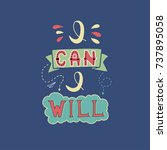 i can and i will. inspirational ...