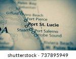 port st. lucie  florida. | Shutterstock . vector #737895949
