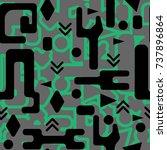 unique geometric vector... | Shutterstock .eps vector #737896864