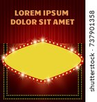 poster template with retro... | Shutterstock .eps vector #737901358