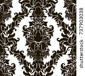 seamless abstract damask... | Shutterstock .eps vector #737903038