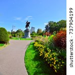 boston public garden.... | Shutterstock . vector #737904199