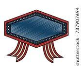 united states of america emblem ... | Shutterstock .eps vector #737907694