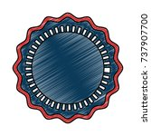 united states of america emblem ... | Shutterstock .eps vector #737907700