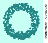 vector confetti background... | Shutterstock .eps vector #737909920