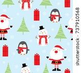 festive christmas pattern   Shutterstock .eps vector #737910568