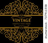 vintage frame  | Shutterstock .eps vector #737911558