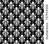 seamless black and white grunge ...   Shutterstock .eps vector #737914204
