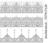 islamic style set pattern for...   Shutterstock .eps vector #737917120