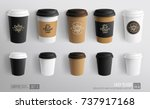 set of coffee cup   mockup... | Shutterstock .eps vector #737917168