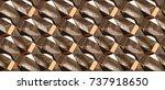 wood design modular 3d texture... | Shutterstock . vector #737918650