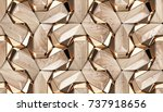 wood design 3d texture with... | Shutterstock . vector #737918656