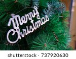 merry christmas letter with... | Shutterstock . vector #737920630