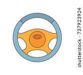 racing steering wheel icon....   Shutterstock .eps vector #737923924