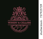 line wine label  winery...   Shutterstock .eps vector #737925739