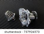 engine cooling radiators. water ...   Shutterstock . vector #737926573