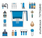 water purification icon faucet... | Shutterstock .eps vector #737926840