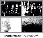 grunge textures set.background... | Shutterstock .eps vector #737931094