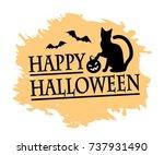 inscription of a happy... | Shutterstock .eps vector #737931490