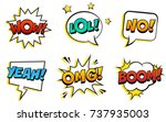 retro comic speech bubbles set... | Shutterstock .eps vector #737935003