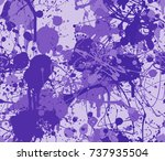 seamless paint splatter pattern ... | Shutterstock .eps vector #737935504