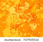 seamless paint splatter pattern ... | Shutterstock .eps vector #737935510