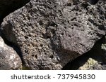 basalt rock | Shutterstock . vector #737945830