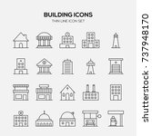 building and real estate icon... | Shutterstock .eps vector #737948170