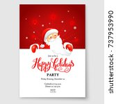 santa claus holiday card | Shutterstock .eps vector #737953990