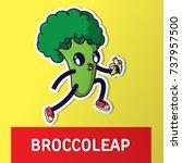 broccoli. cartoon vector... | Shutterstock .eps vector #737957500