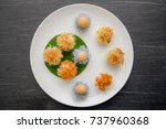 ancient thai dessert  thai... | Shutterstock . vector #737960368