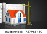 3d illustration of generic... | Shutterstock . vector #737965450