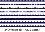 scalloped border navy | Shutterstock .eps vector #737968864