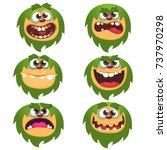 cartoon monsters set for... | Shutterstock .eps vector #737970298